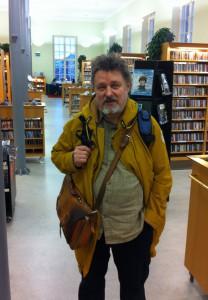 Heikki Poroila Turun kaupunginkirjastossa 2013. Kuva: Tuomas Pelttari.