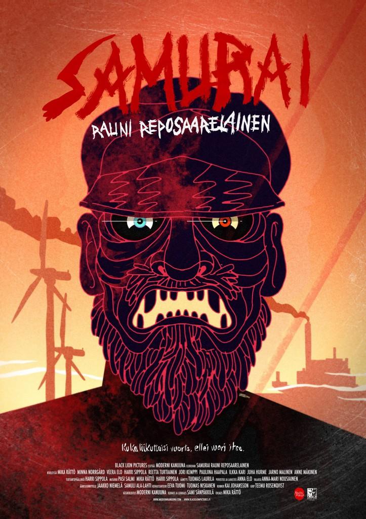 Elokuva Samurai Rauni Reposaarelainen on ennakkokiertueella syys-lokakuussa. Mika Rätön ojaustyön ensi-ilta on 21.10.2016. Kuva: Black Lion Pictures.